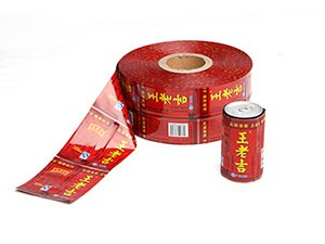 Bottle label plastic packaging film