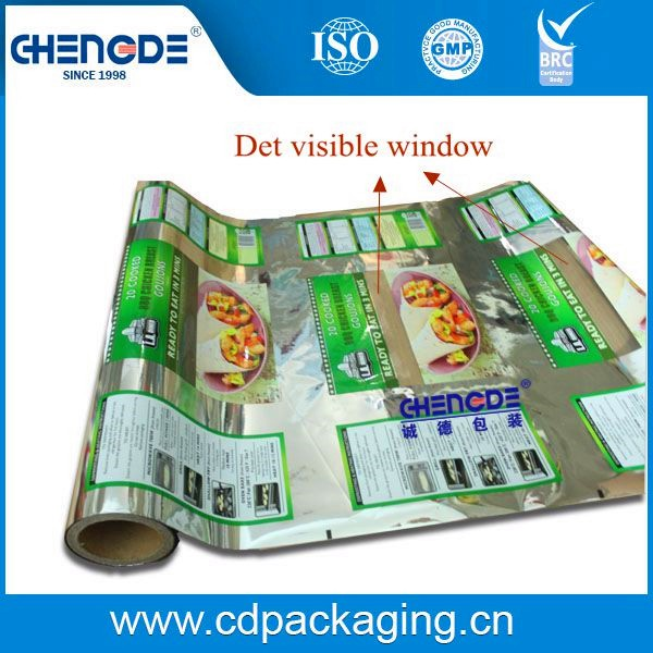 Det Metalized Laminated Roll Film for food with clear window